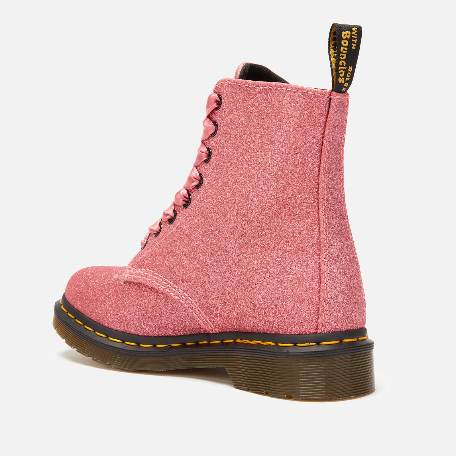 cd1a61f6d6f6 Dr. Martens 1460 Pascal Glitter 8-eye Boots in Pink - Lyst
