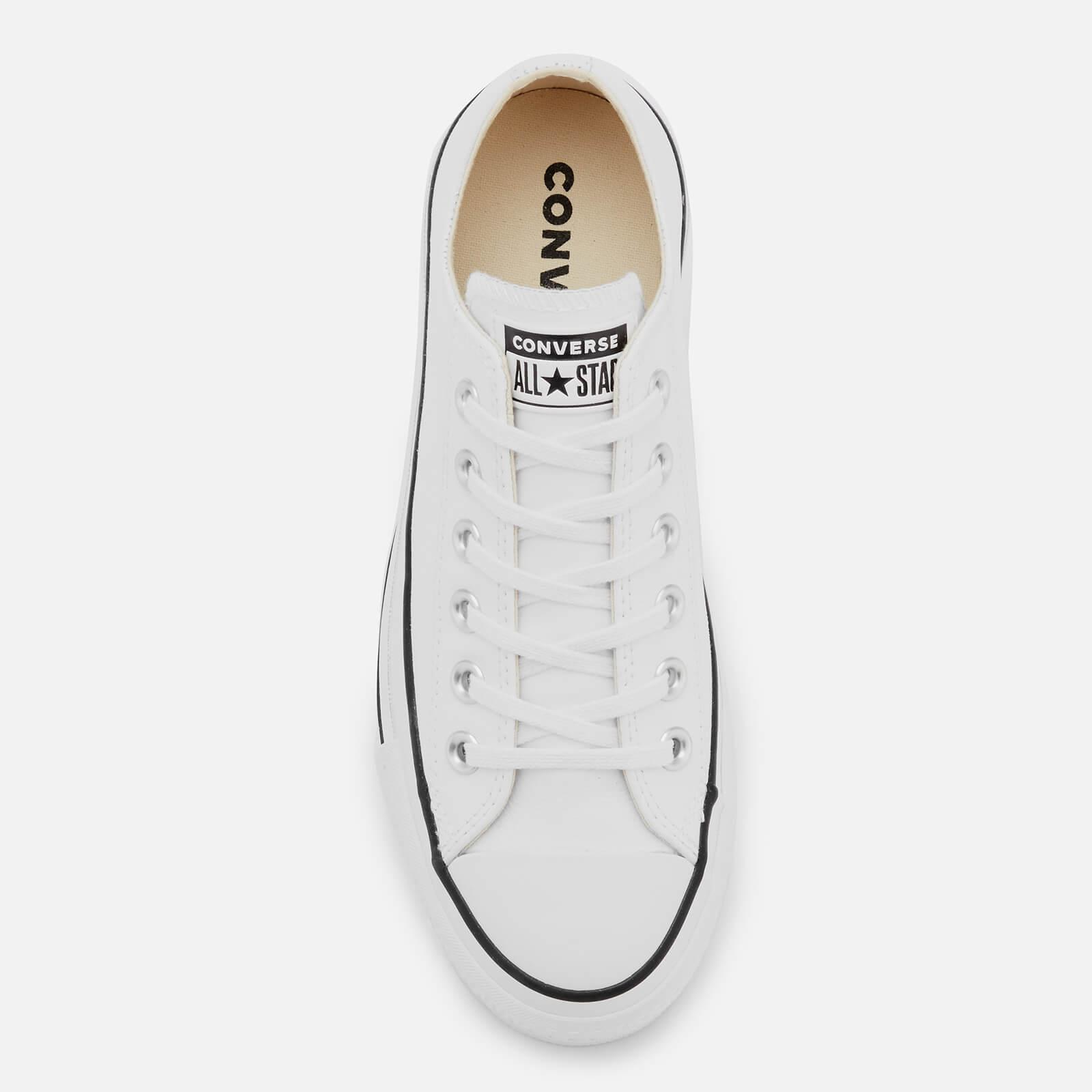 Converse Leather Chuck Taylor All Star Lift Clean Ox Trainers in White