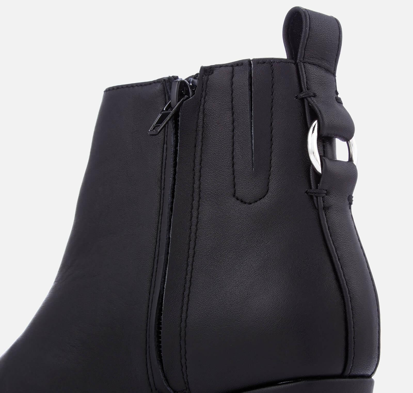 bc78c495019 Steve Madden Black Clover Leather Heeled Ankle Boots