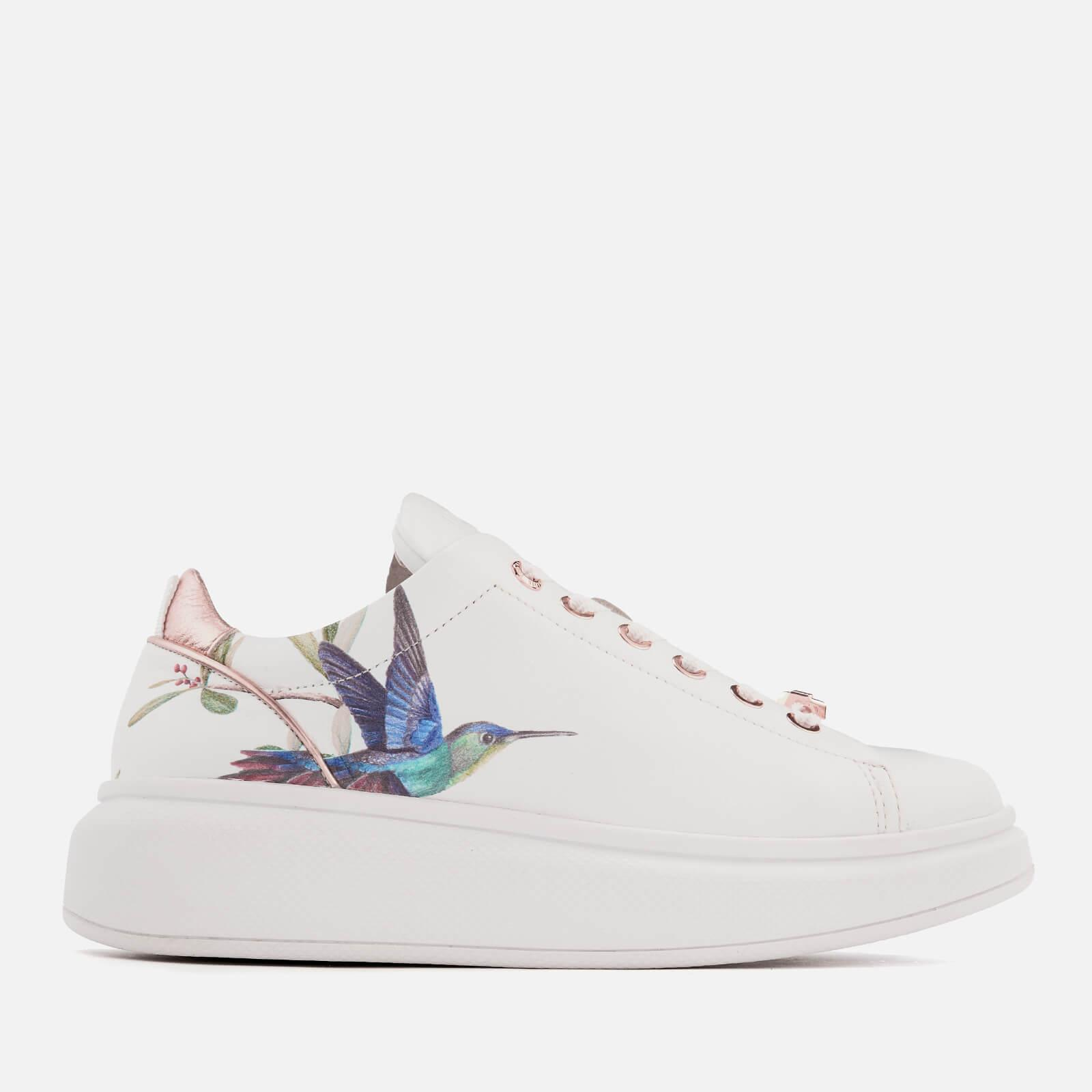 e3528fbae80 Lyst - Ted Baker Ailbe Leather Platform Trainers in White