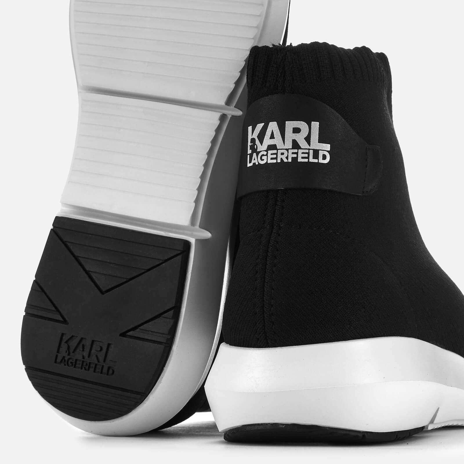 3d3ee2259833 Karl Lagerfeld - Black Vitesse Legere Knit Womens Trainer - Lyst. View  fullscreen