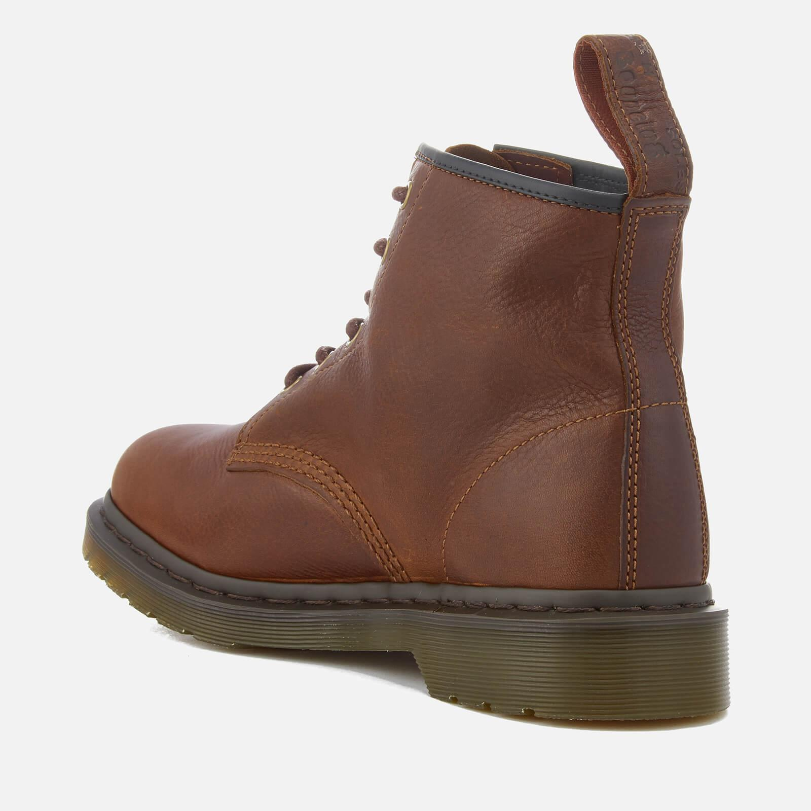 Dr. Martens Men's 101 Harvest Leather 6-Eye Lace Up Boots - - UK 8 vsZOmvZd