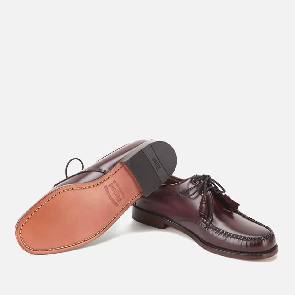 G H BASS Red Men's Lace Up Leather Loafers for men