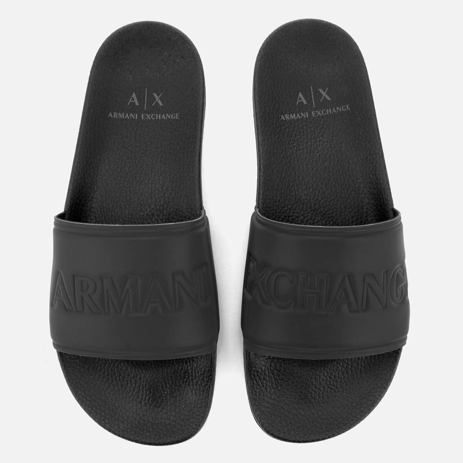 Armani Exchange Synthetic Mens Slides