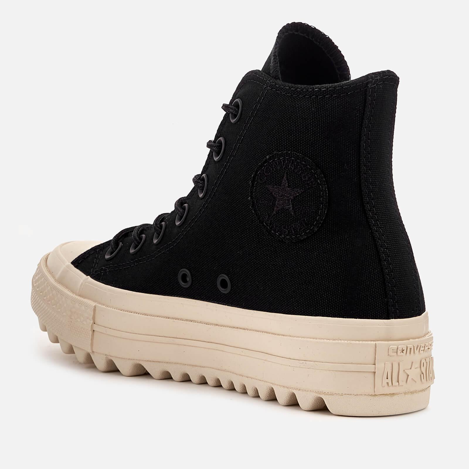 Converse Canvas Chuck Taylor All Star Lift Ripple Hi-top Trainers in Black
