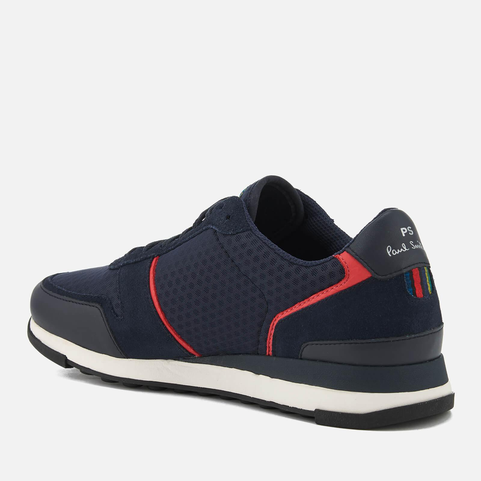PS by Paul Smith Wilko Leather/mesh Runner Trainers in Navy (Blue) for Men