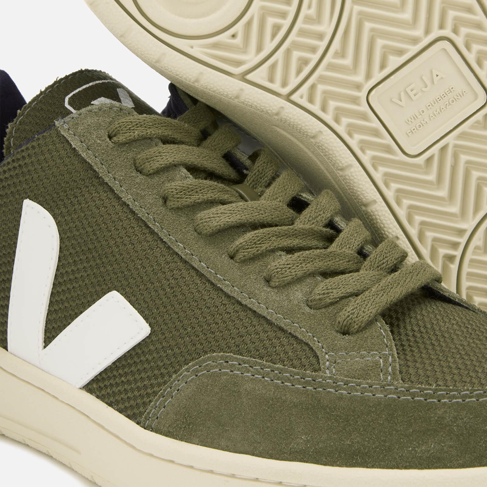 Veja Suede V-12 Mesh Sneakers in Green