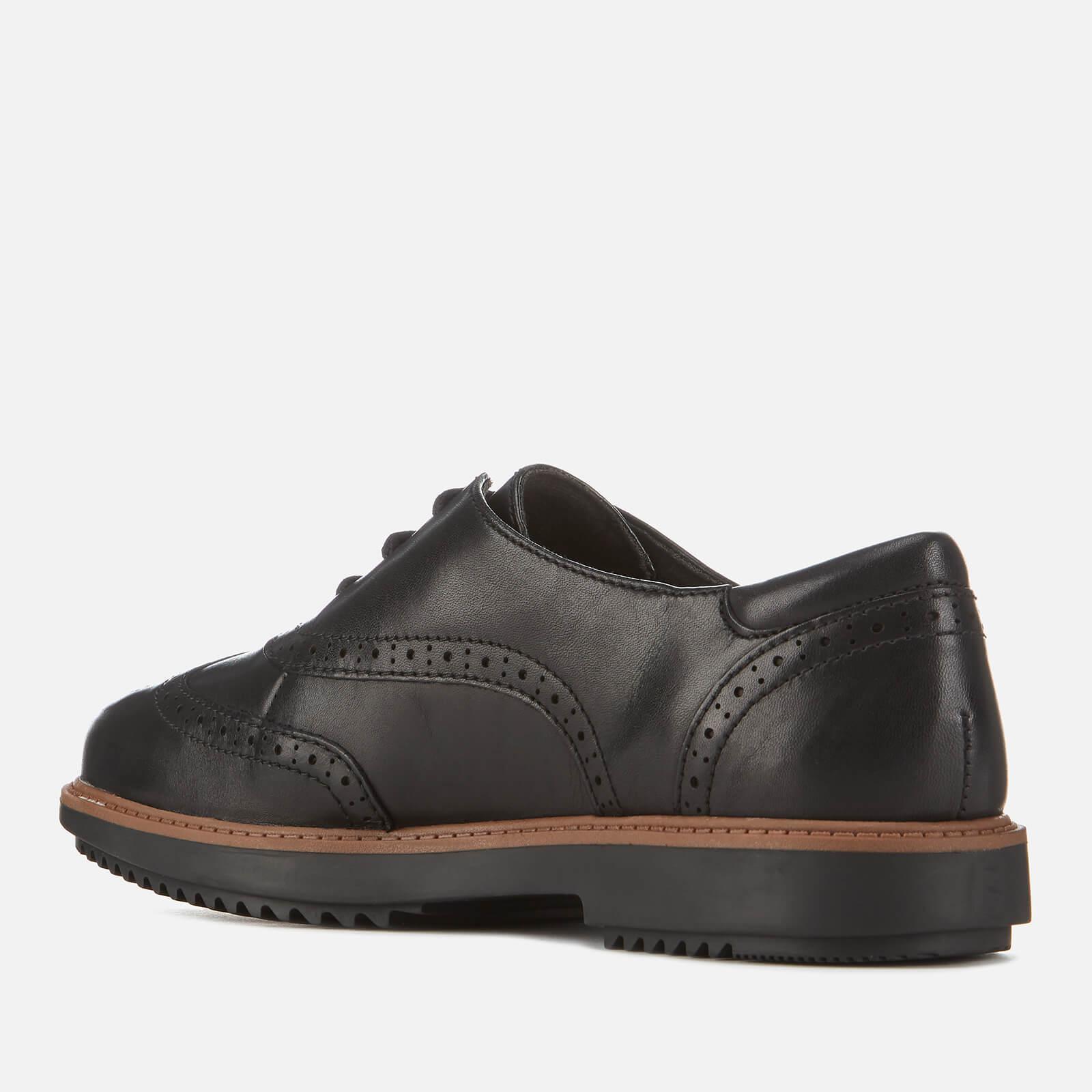 visto ropa considerado Piscina  Clarks Leather Raisie Hilde S Wide Fit Brogues 6 Uk Black - Save 29% - Lyst
