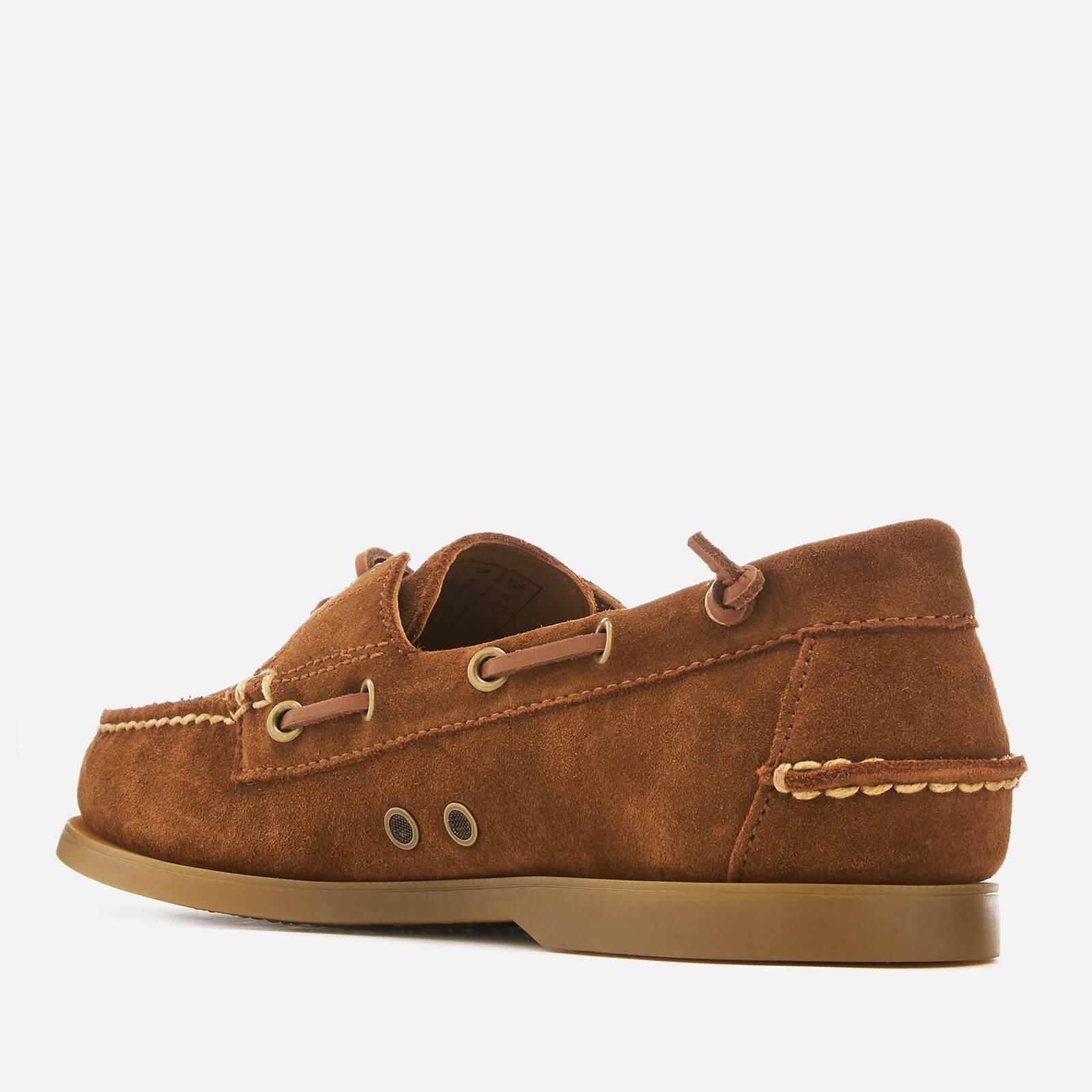 Merton Suede Boat Shoes in Tan (Brown