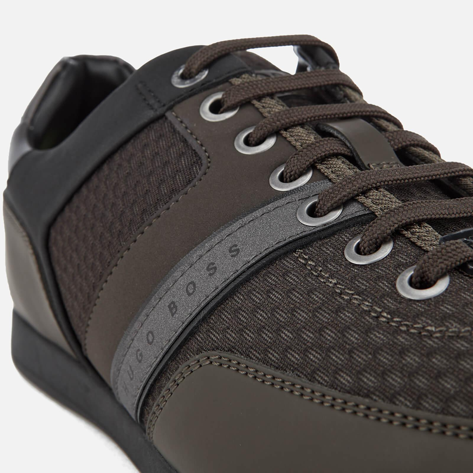 boss athleisure maze low top knit trainers