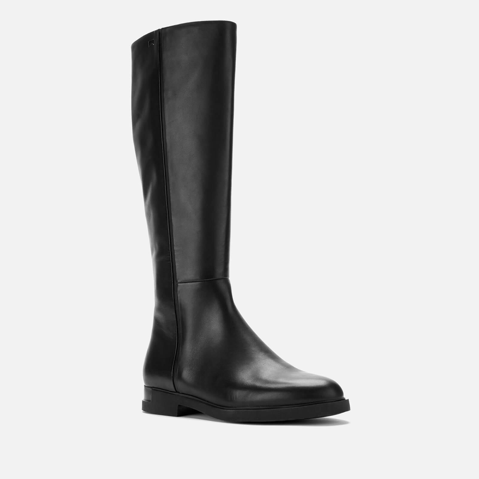 Camper Iman Womens Chocolate Leather Knee High Boots