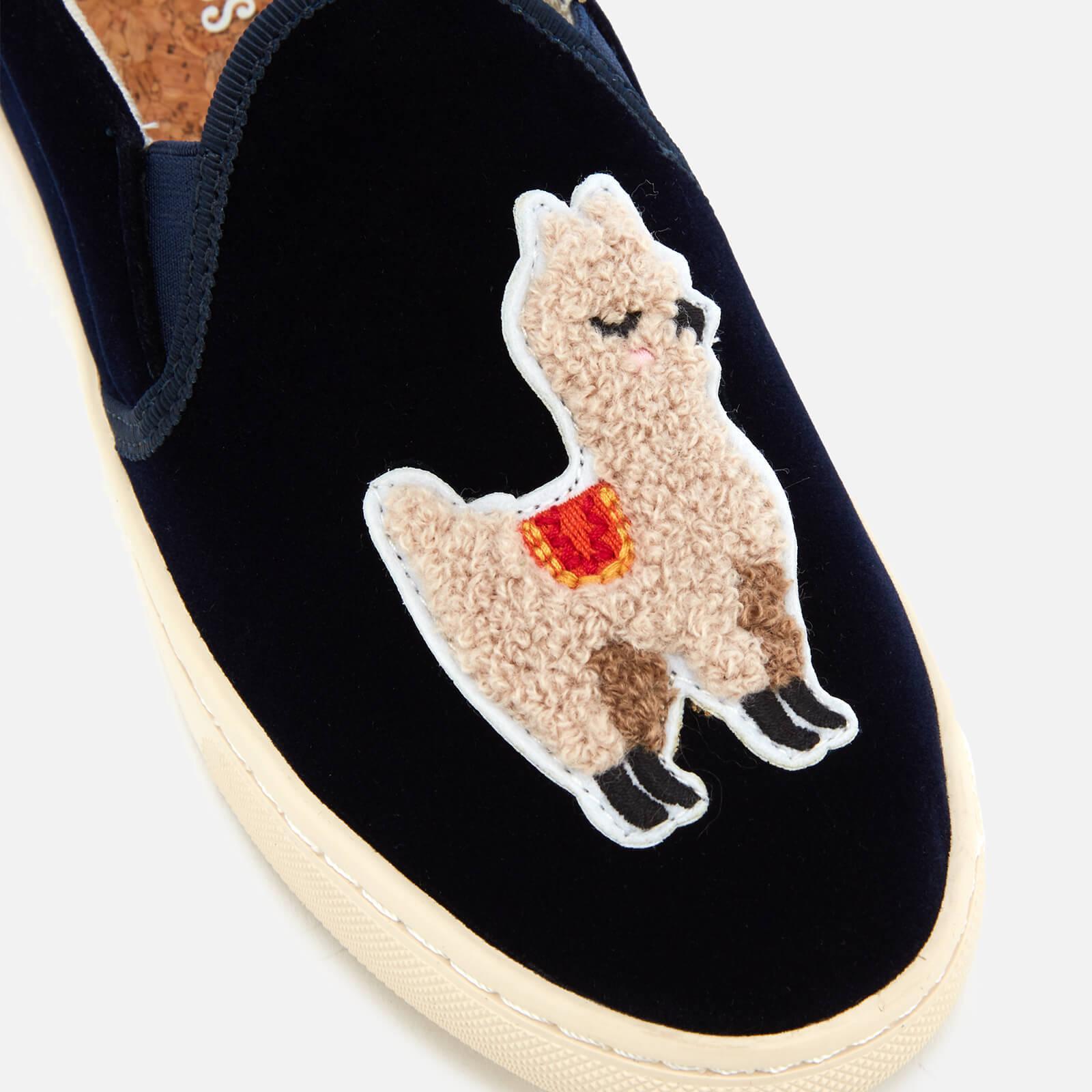 Soludos Velvet Llama Sneaker in Navy (Blue) - Save 32%