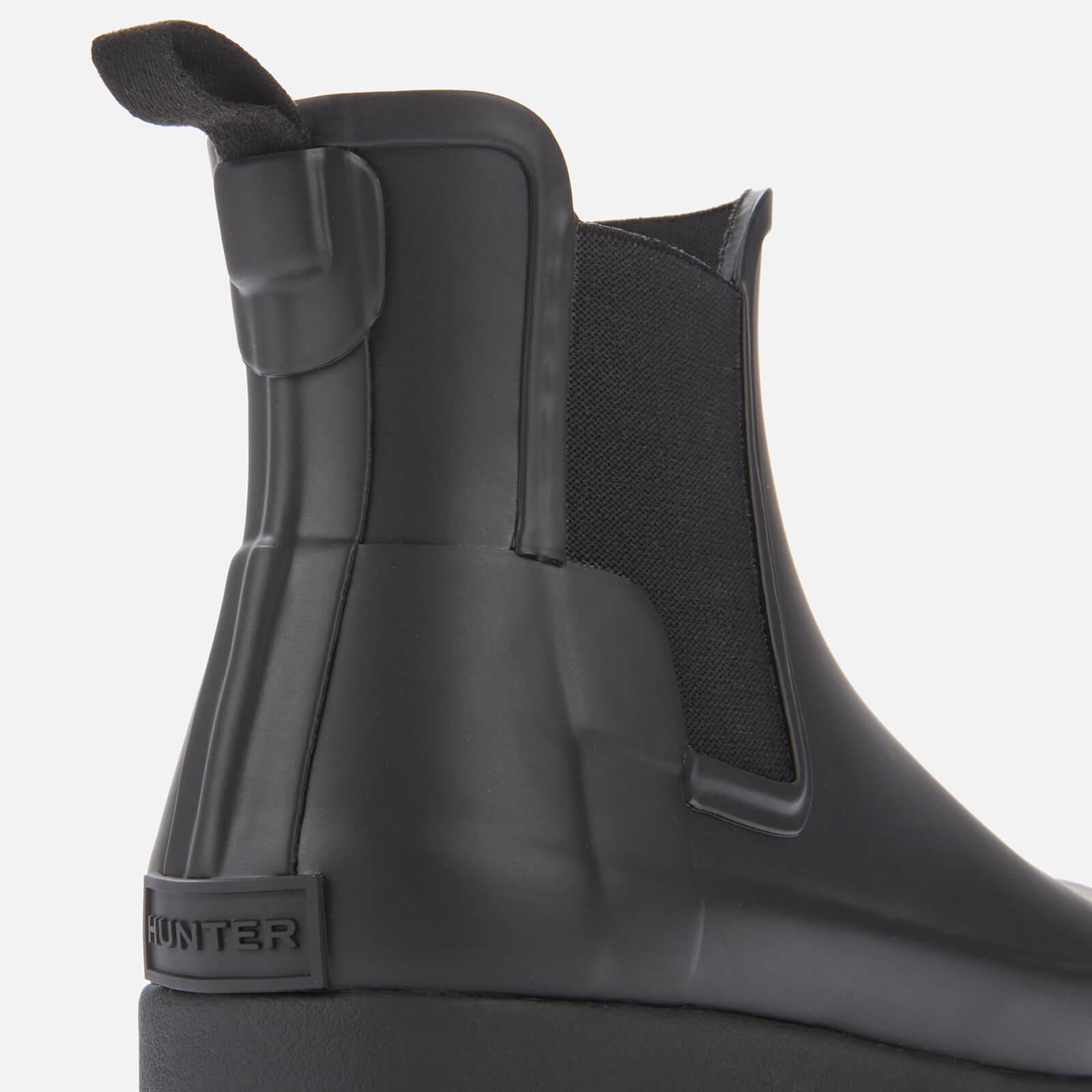 HUNTER Rubber Women's Original Refined Chelsea Boots in Black