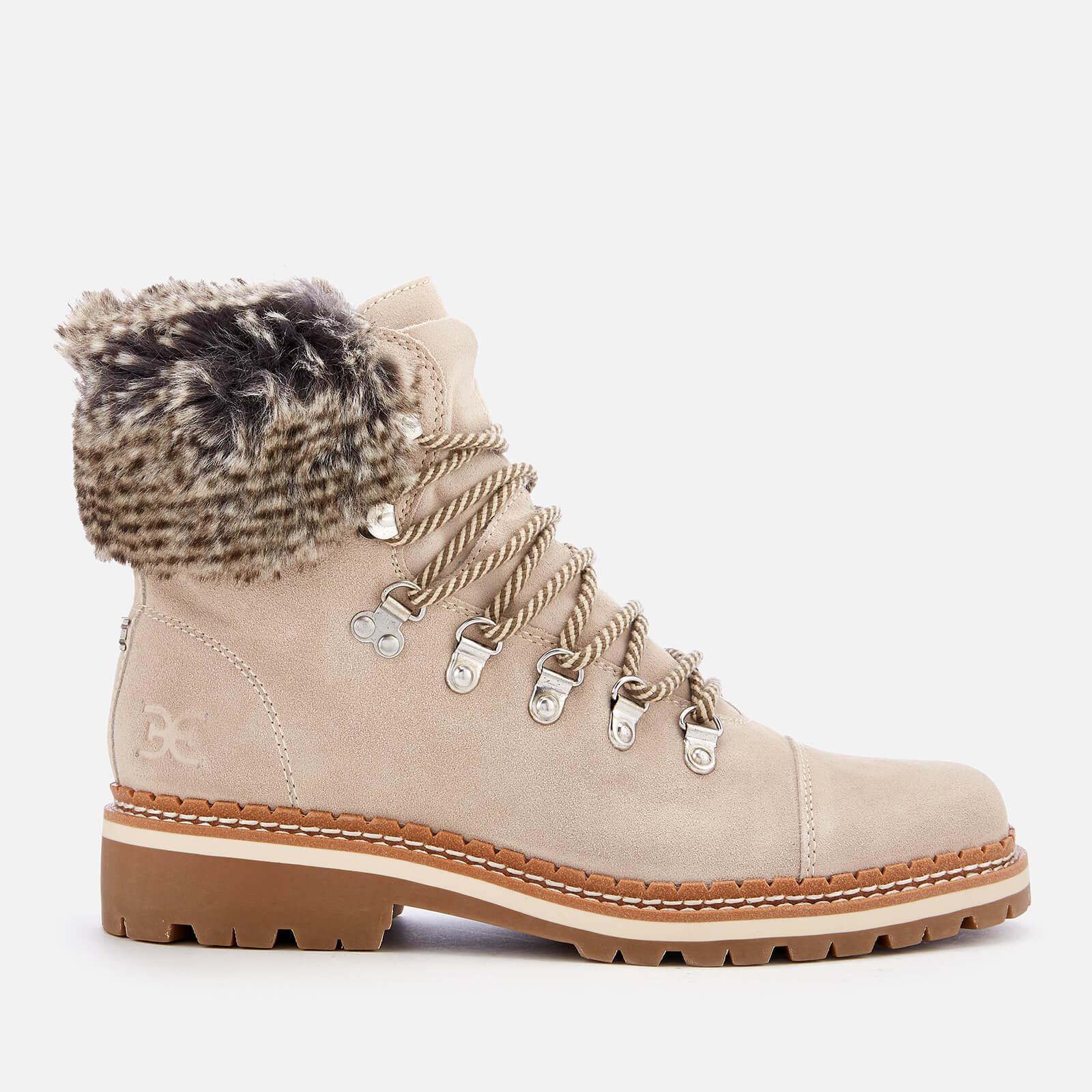 13796eea570a8 Sam Edelman Bowen Velutto Suede Hiker Style Boots in Gray - Lyst