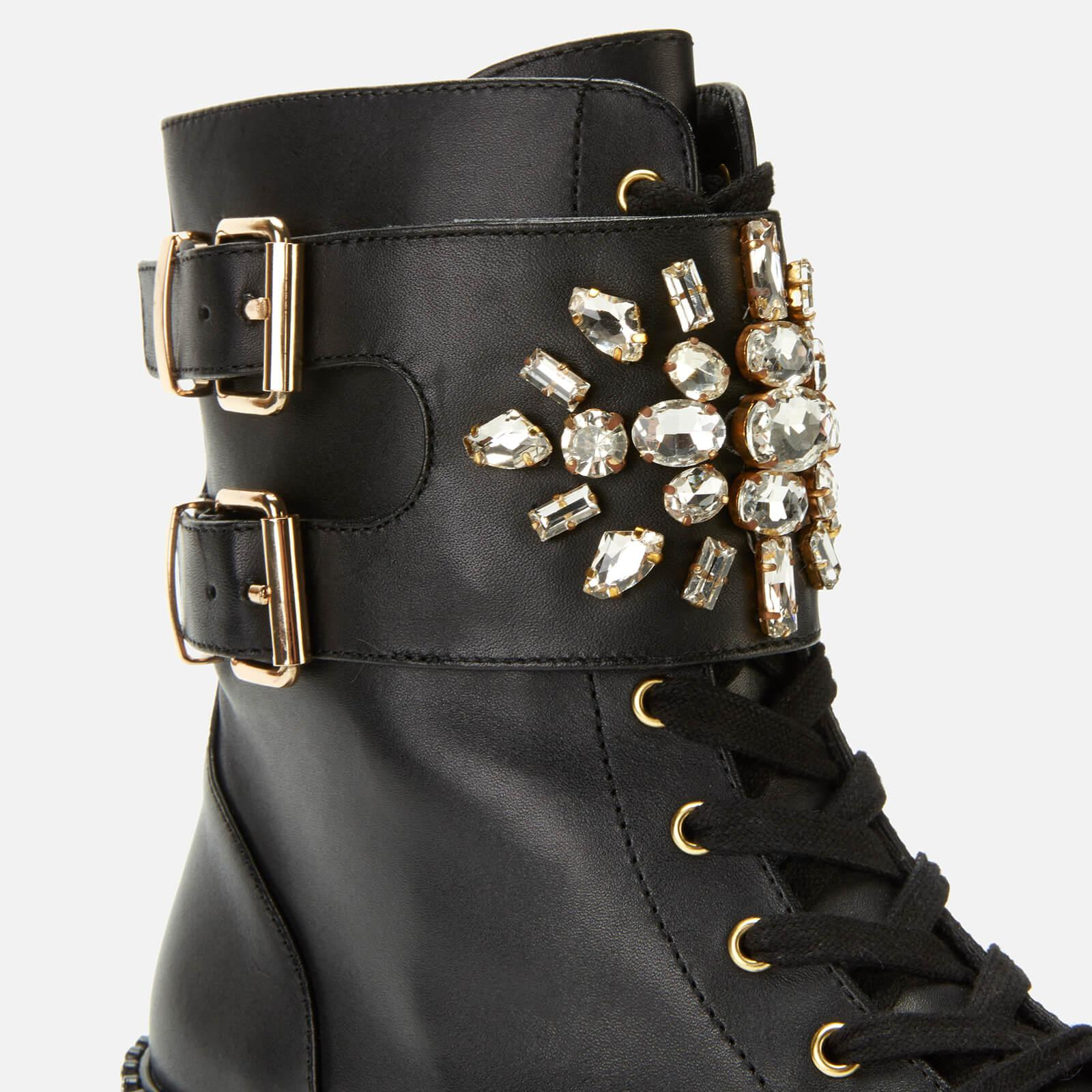 6b0611add6304 Kurt Geiger Stoop Leather Lace Up Boots in Black - Save 43% - Lyst