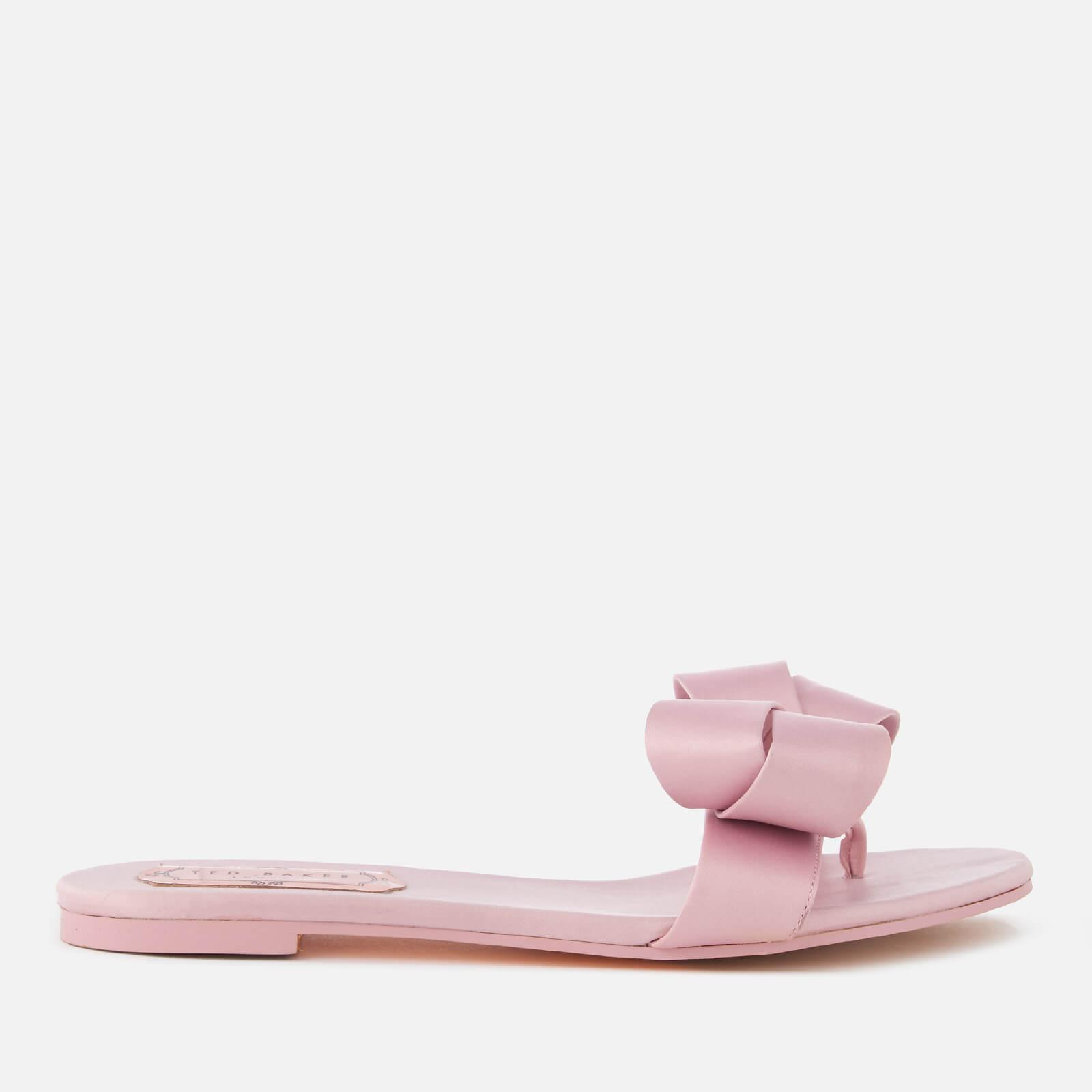3019bcc292ee11 Lyst - Ted Baker Beauita Satin Bow Sandals in Pink