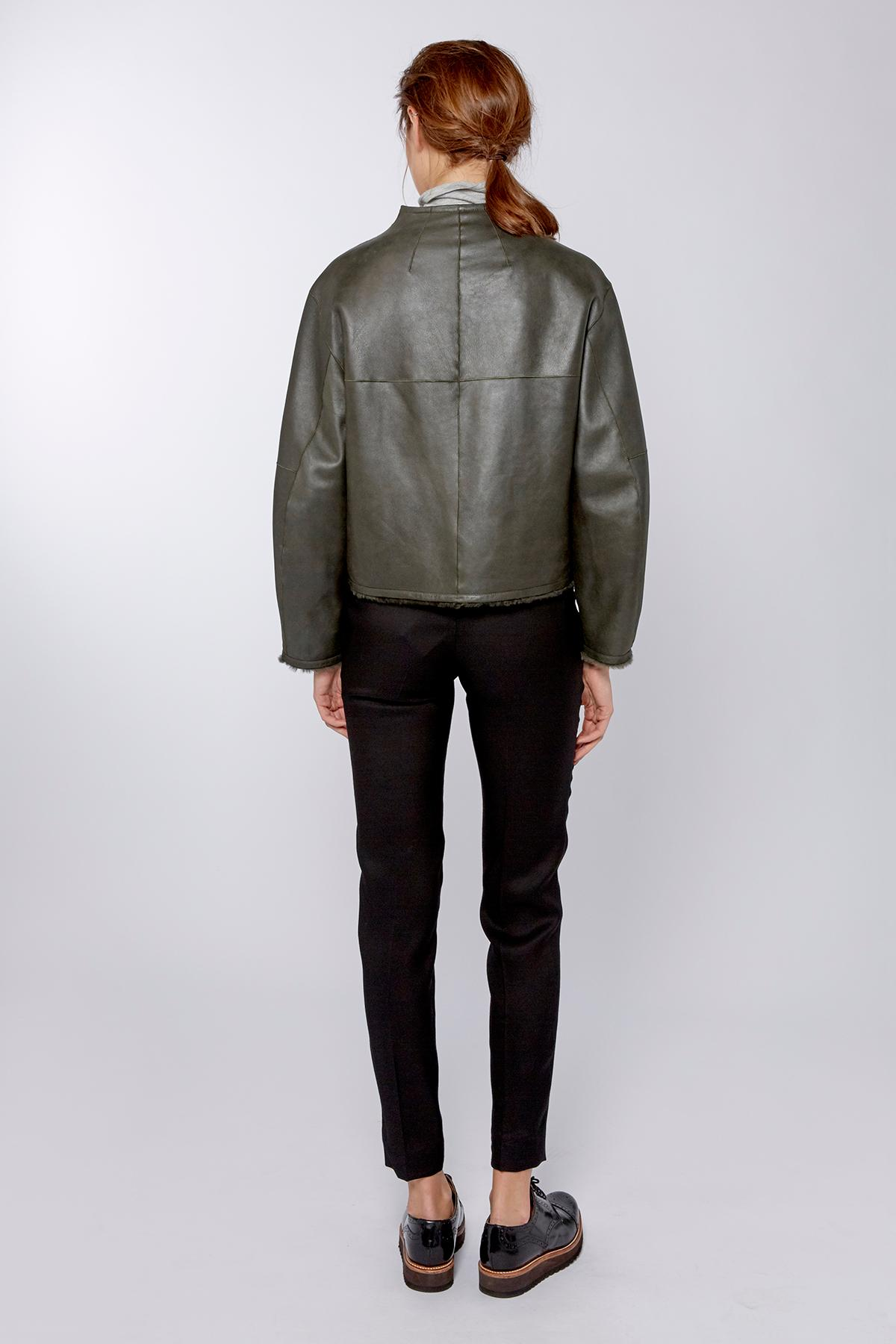 Amanda Wakeley Mirage Khaki Silky Shearling Jacket Lyst