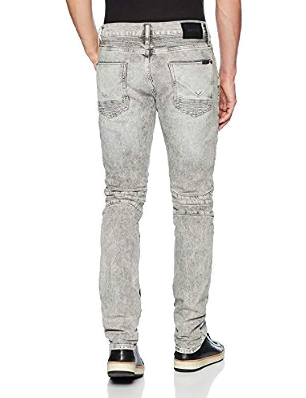 c12a115bae6 Lyst - Hudson Jeans The Blinder Biker Jean in Gray for Men