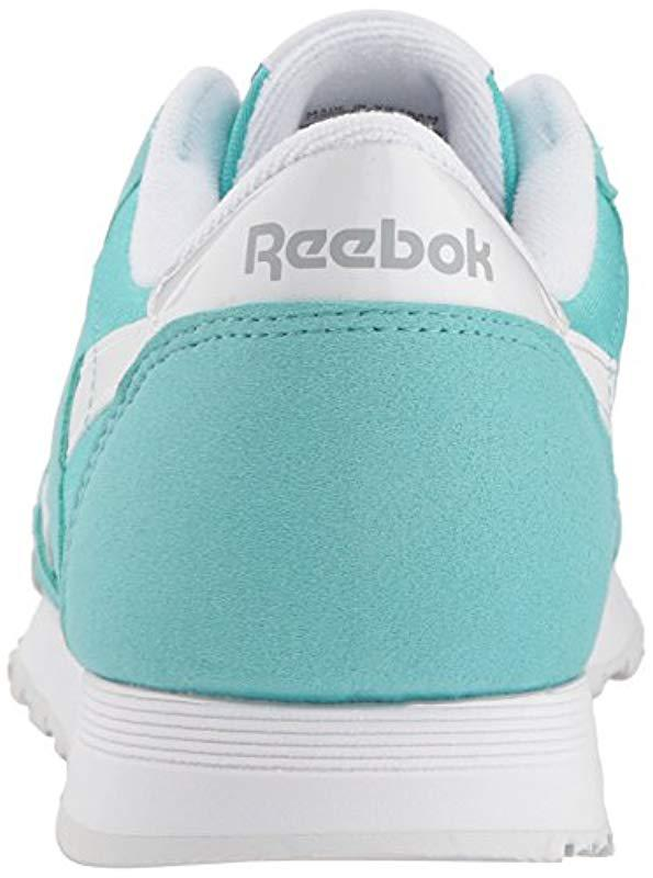 ba23d84163d Reebok - Blue Classic Nylon Brights (turquoise white stark Grey) Women s  Classic. View fullscreen