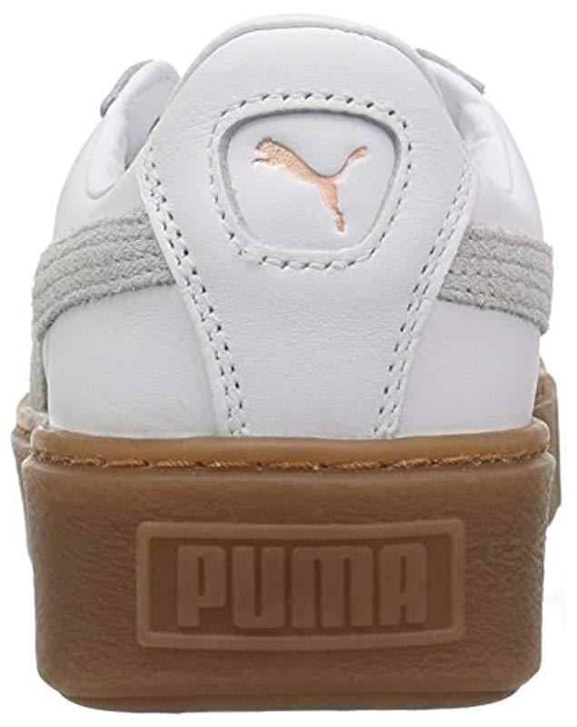 puma platform euphoria white