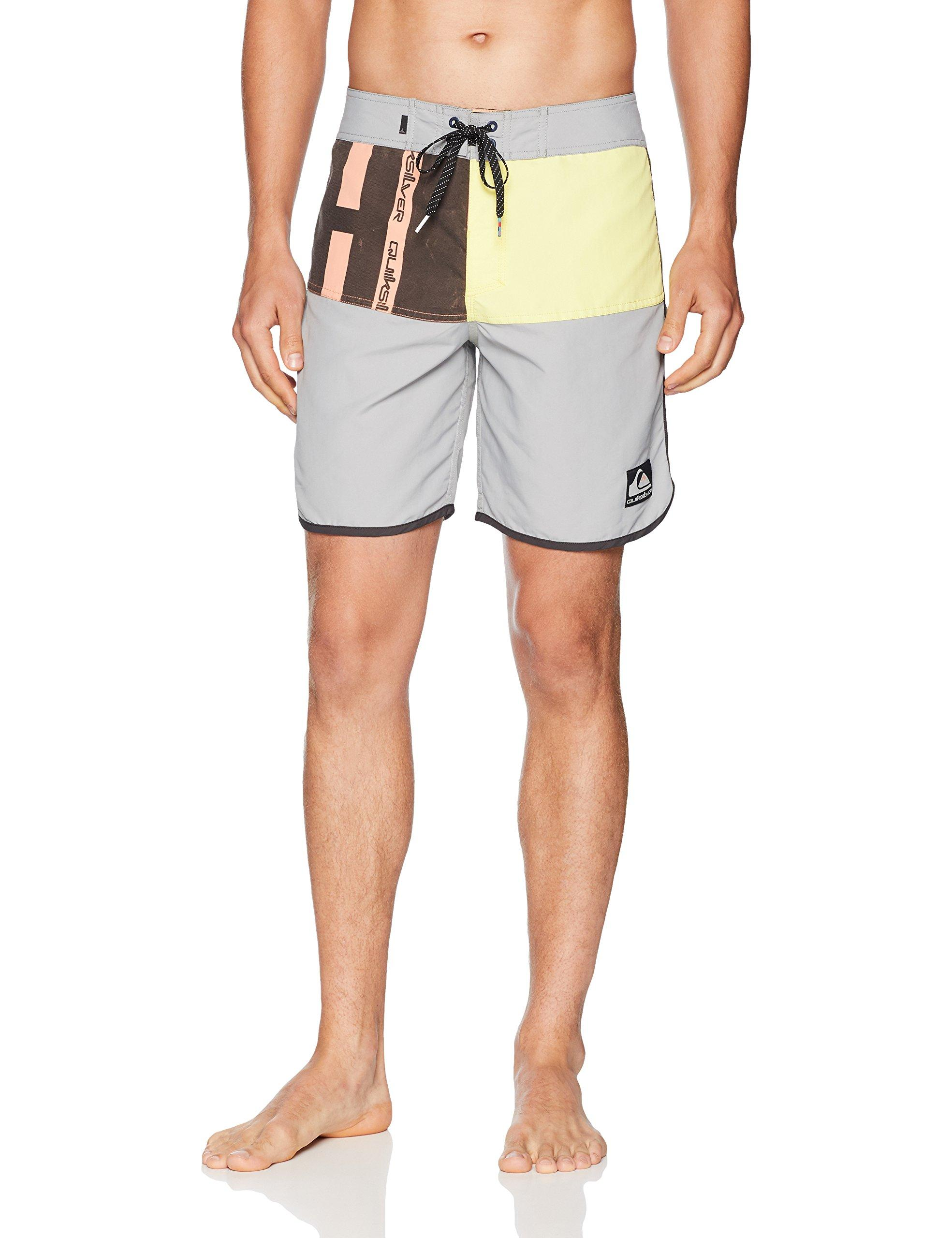 Mens Swim Trunks Bamboo Trees Sun and Mountains Quick Dry Beach Board Shorts with Mesh Lining