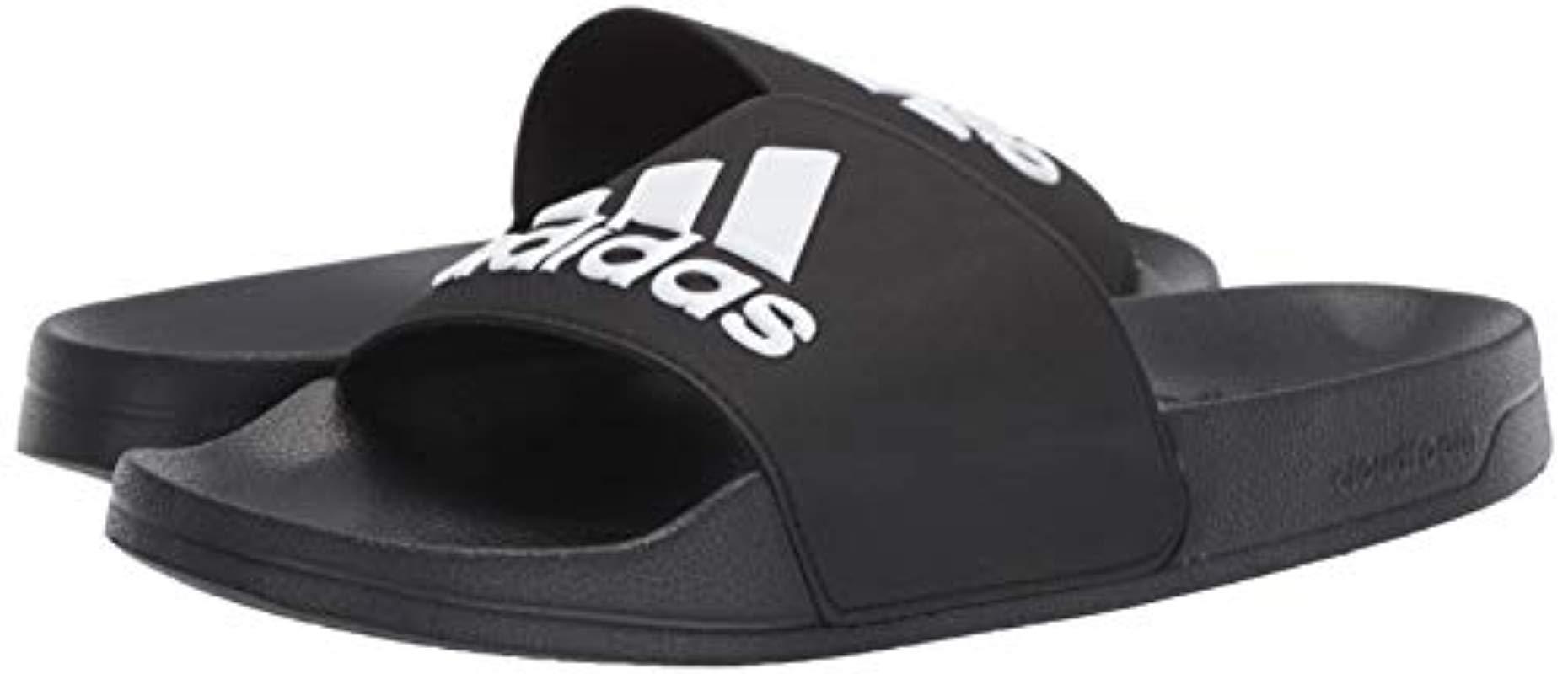 predominante sensación cómoda buena venta adidas Synthetic Adilette Shower Black/white/black Sandals (f34770 ...