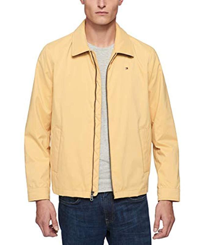 b8604398 Lyst - Tommy Hilfiger Lightweight Microtwill Golf Jacket in Yellow ...