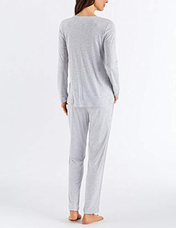 0f22e0aa6a Lyst - Hanro Elara Long Sleeve Pajama Set