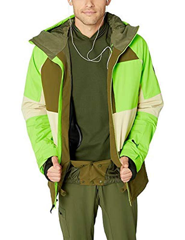 11e3375a2 Men's Green Sycamore 10k Snow Jacket