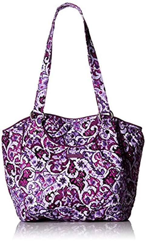 c048f20ff18 Lyst - Vera Bradley Glenna Shoulder Bag, Signature Cotton in Purple ...