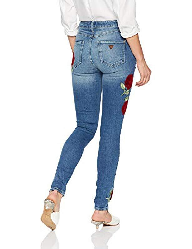 GuessVelvet Rose 1981 Skinny JeansBlue