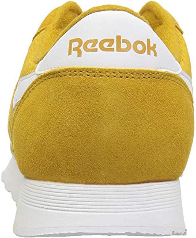 ece7aaca6a1b Lyst - Reebok Classic Nylon Sneaker in Yellow for Men