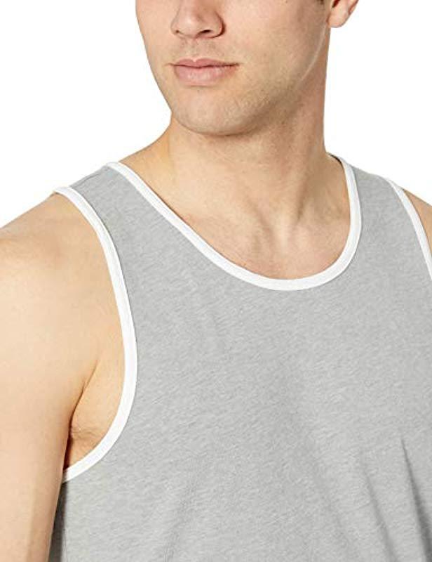 a7aaa48ec55283 Amazon Essentials - Gray Slim-fit Ringer Tank Top for Men - Lyst. View  fullscreen
