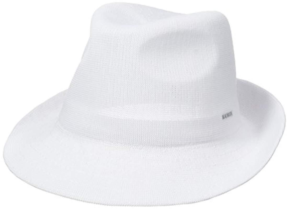 d8d54bc0237d5 Lyst - Kangol Hiro Trilby in White for Men - Save 2.173913043478265%