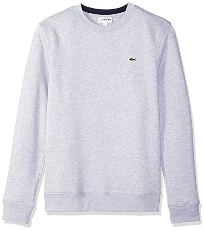 a3ba69f70 Lyst - Lacoste Fleece Sweatshirt With Green Croc-contrast Details in ...
