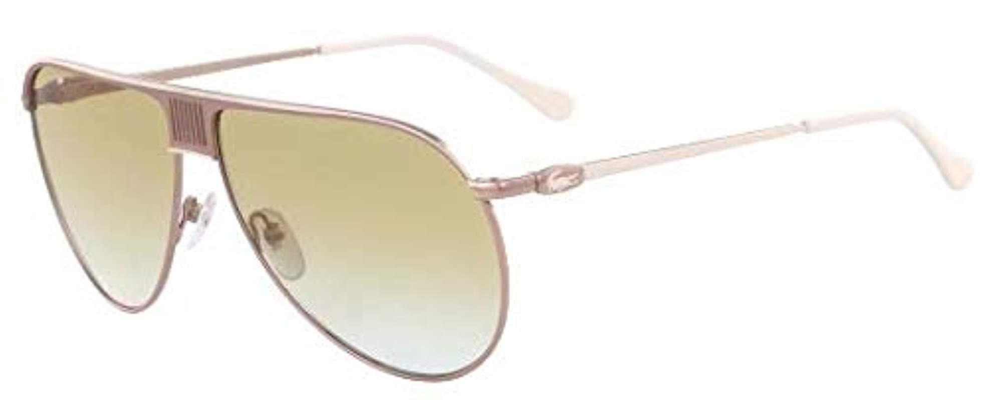 1c2bcf08e0c Lyst - Lacoste L200s Aviator Sunglasses Gold Ivory 62 Mm in White ...