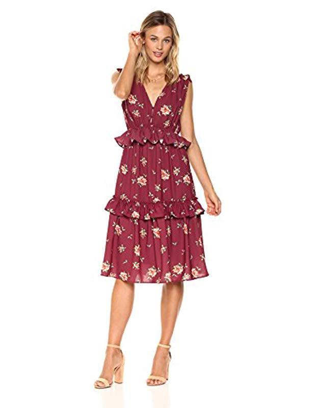 a8144138d8e Lyst - Ella Moon Milly Sleeveless Multi Ruffle A-line Midi Dress in ...