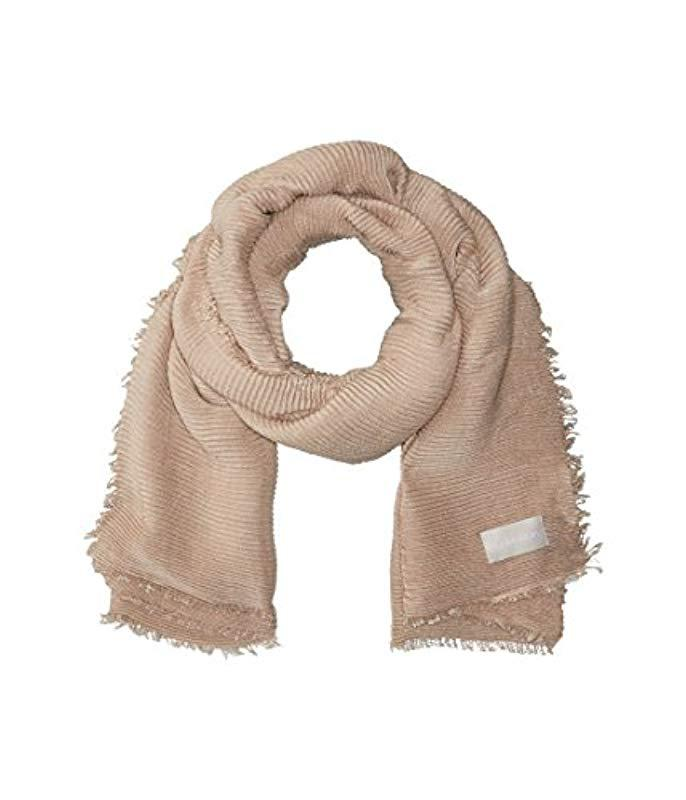 7344cf97109eb Lyst - Calvin Klein Pleated Scarf - Save 45%