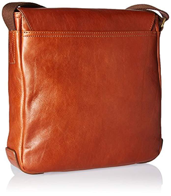 8f2f7c88d0d3 Fossil - Multicolor Buckner Leather Trim City Bag for Men - Lyst. View  fullscreen