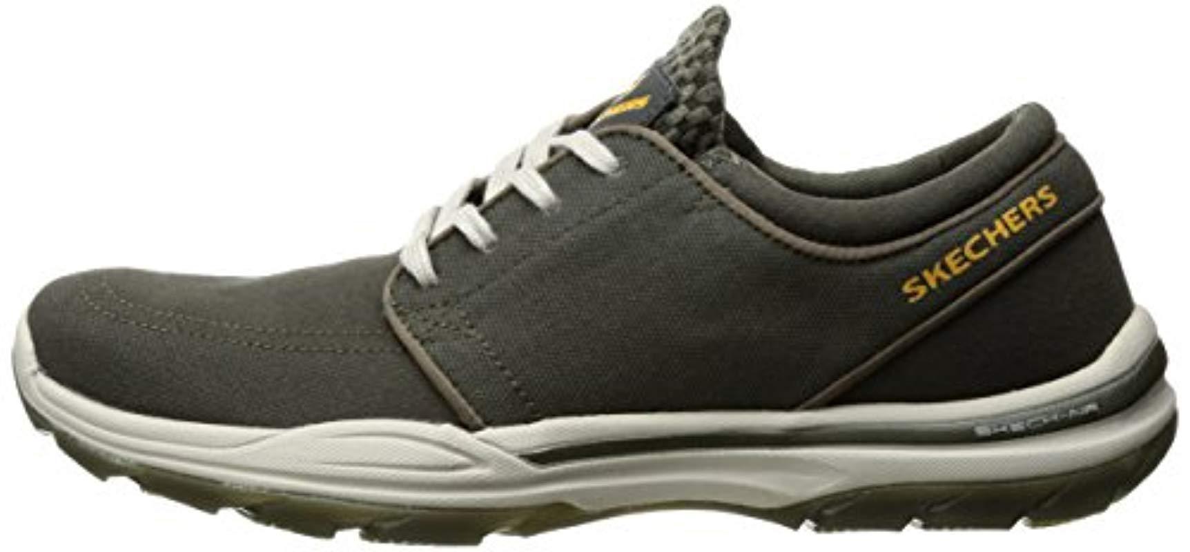 NEW Mens Skechers ELMENT VENTON Casual Shoes Color Black Gray On Sale