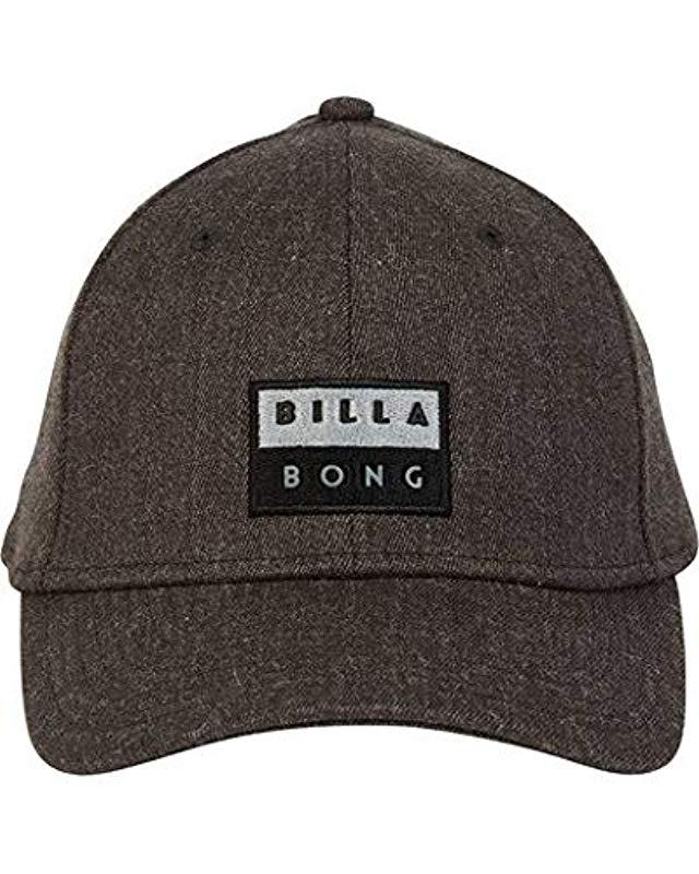 8370f42268e6d Lyst - Billabong Walled Stretch Hat in Gray for Men