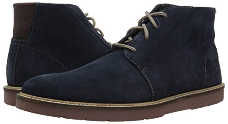 estante Acción de gracias Retirado  Clarks Leather Grandin Mid Boot in Navy Suede (Blue) for Men - Lyst