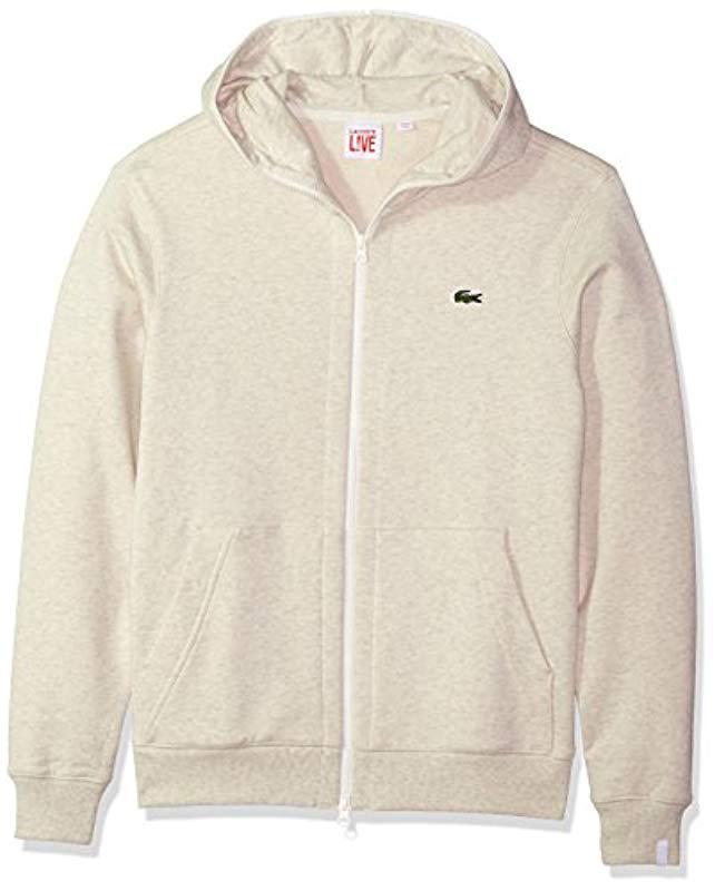 029bcf3ebef89 Lyst - Lacoste Unisex Fleece Full Zip Sweatshirt in Natural for Men ...