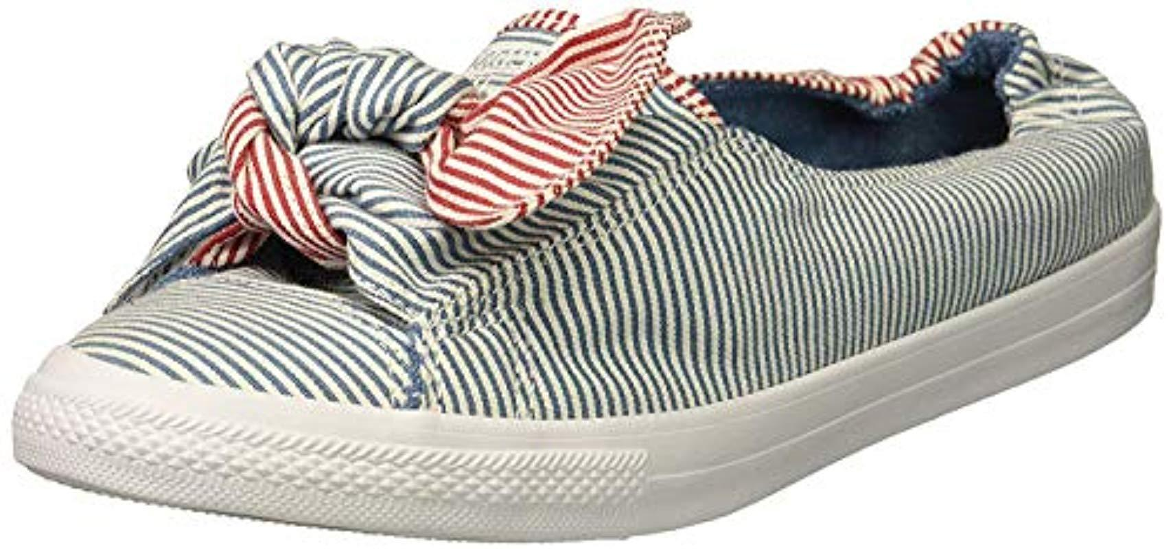 cafe36c415 Converse. Women s Knot Striped Chambray Slip On Sneaker