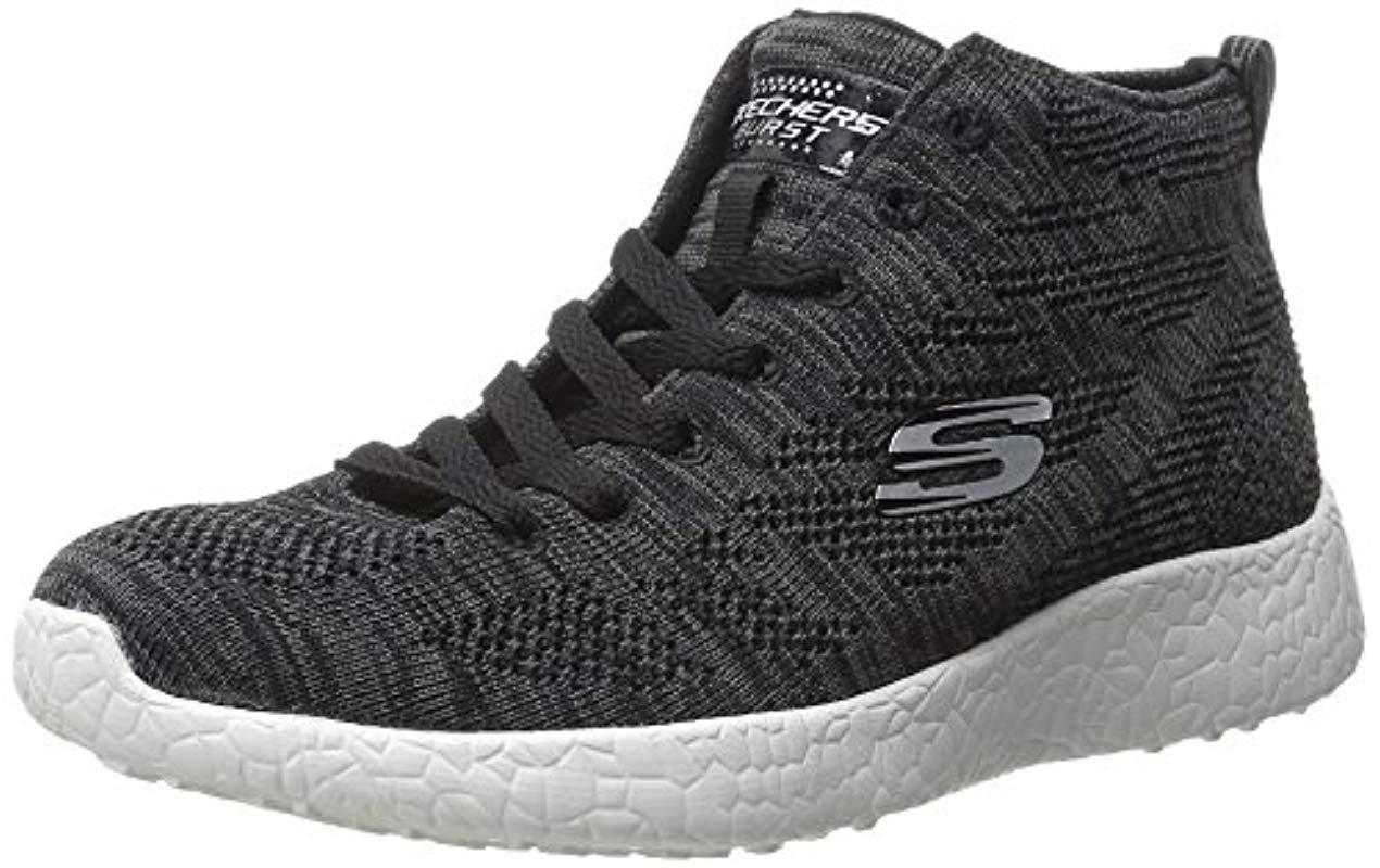 Skechers Sport Burst Divergent Demi Boot Sneaker in Black Lyst