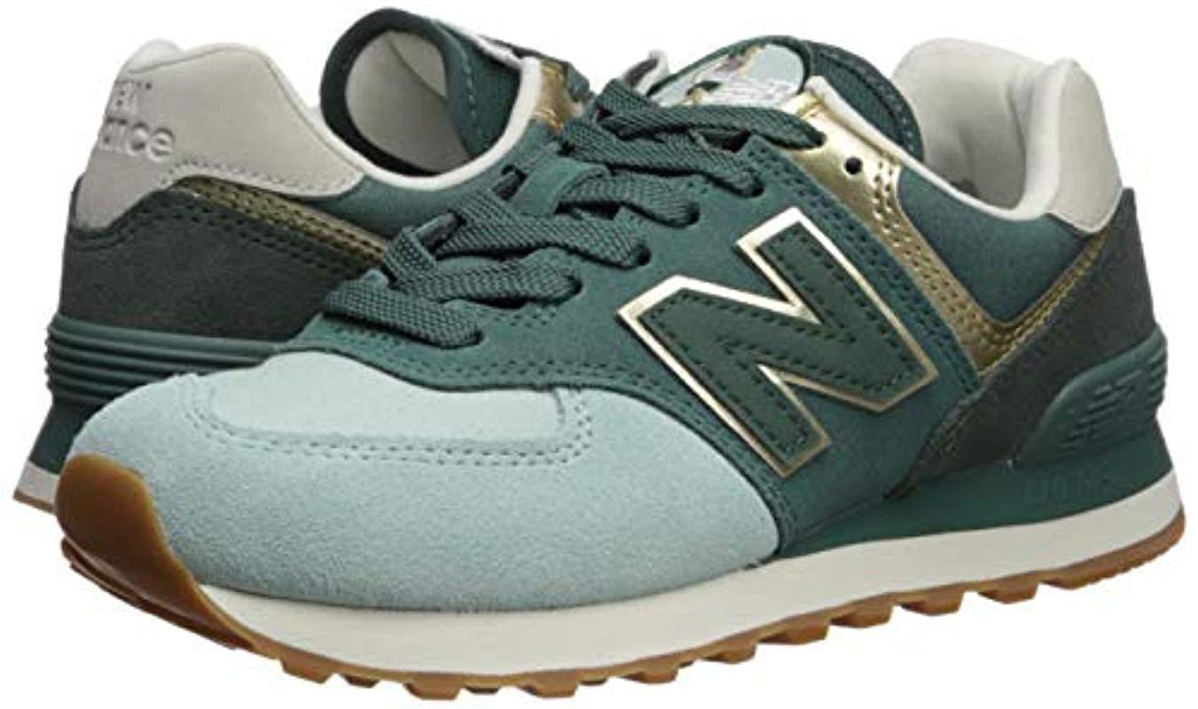 green and gold new balance 574