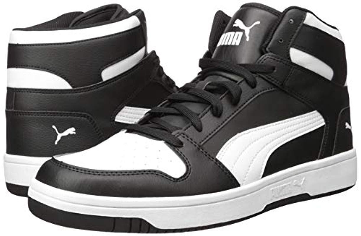 PUMA Rebound Layup Sneakers in Black/White (Black) for Men - Save ...