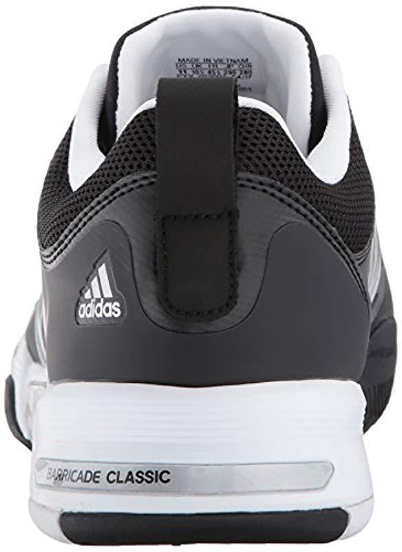 pretty nice 6afbe 6a8ba Adidas - Metallic Barricade Classic Wide 4e Tennis Shoe for Men - Lyst.  View fullscreen