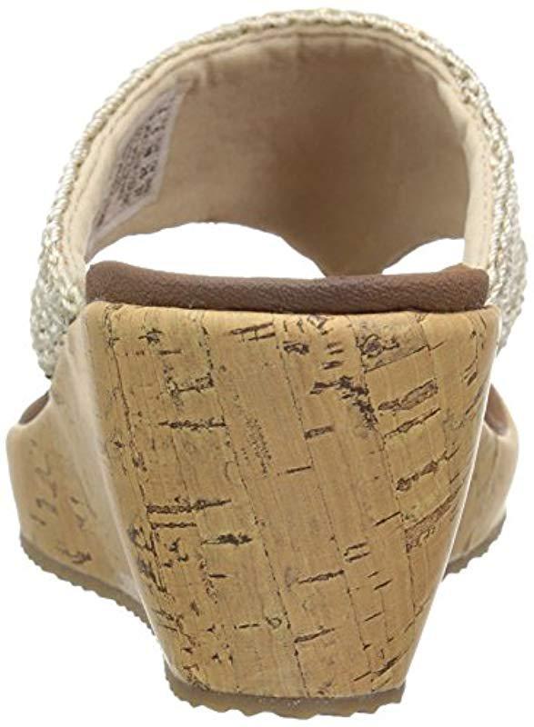 ea7602fb8d Skechers - Natural Cali Beverlee Wedge Sandal - Lyst. View fullscreen