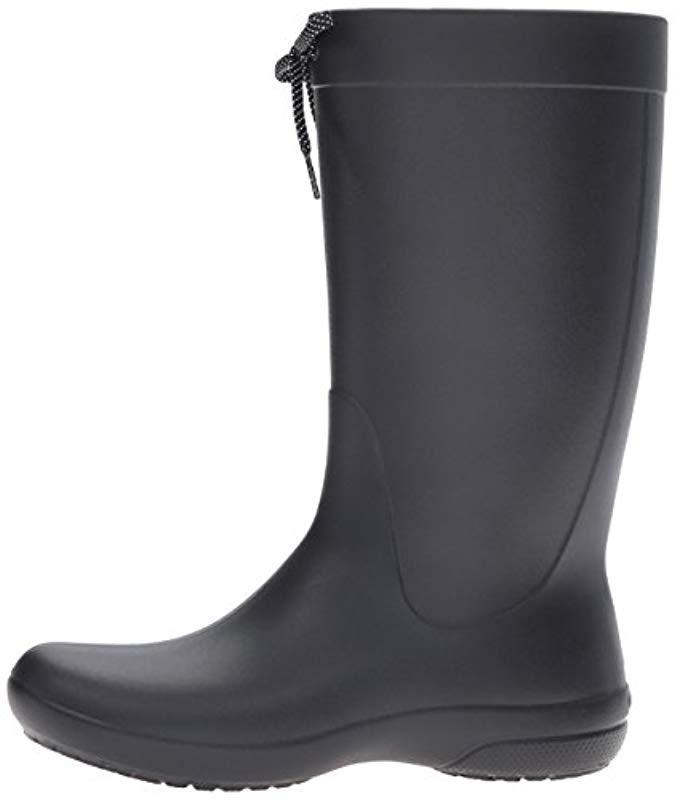 da0ded267d9232 Crocs™ - Black Wellies Freesail Rain Boot Wellington Boots - Lyst. View  fullscreen